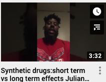 Synthetic drugs: short term vs long term effects Julian Brown