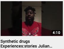 Synthetic drugs  Experiences: stories Julian Brown