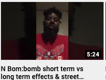 N Bomb: bomb short term vs long term effects & street names Julian Brown