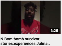 N Bomb: bomb survivor stories: experiences Julian Brown