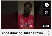 Binge drinking Julian Brown