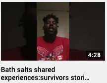 Bath salts shared experiences – survivors stories Julian Brown