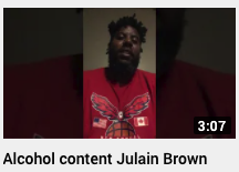 Alcohol content Julian Brown